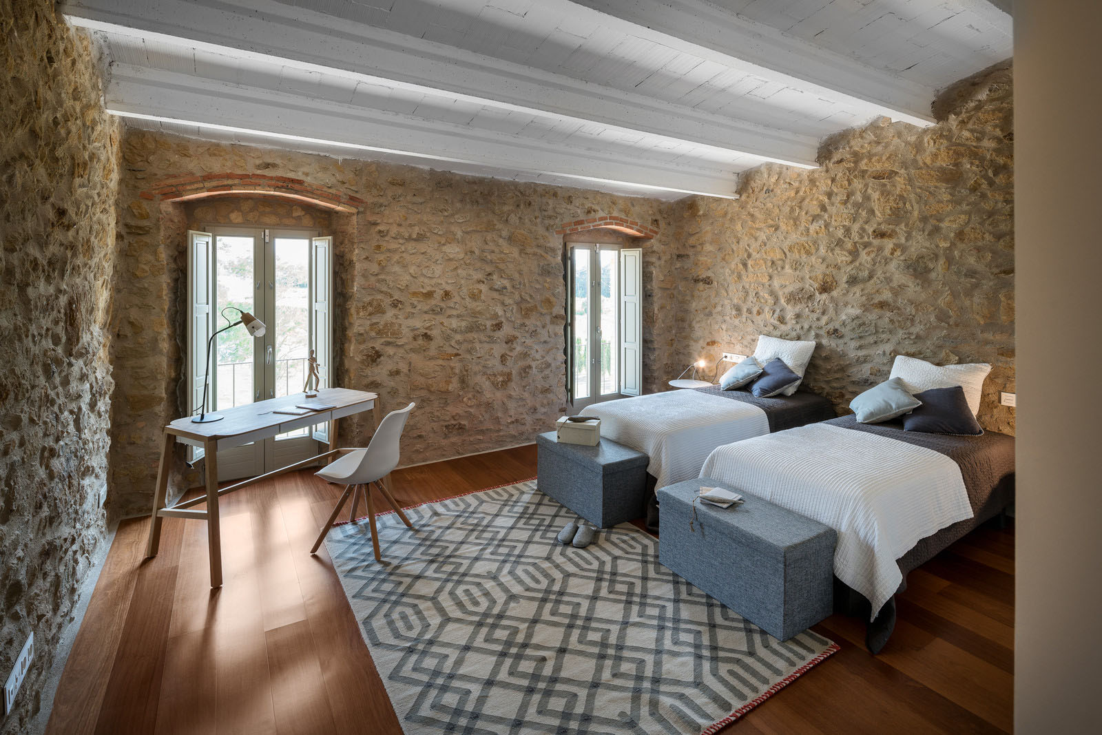 An Ancient Stone Manor Transformed Into A Rustic