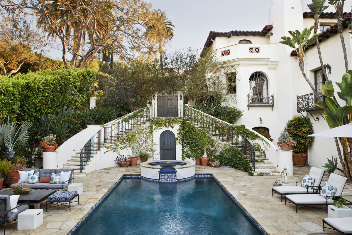 Mediterranean Inspired Spanish Colonial Revival Luxury House In Los Angeles Idesignarch Interior Design Architecture Interior Decorating Emagazine