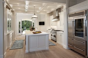 Dream Kitchen with White Marble Countertops