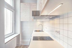 Small Modern Studio Kitchen