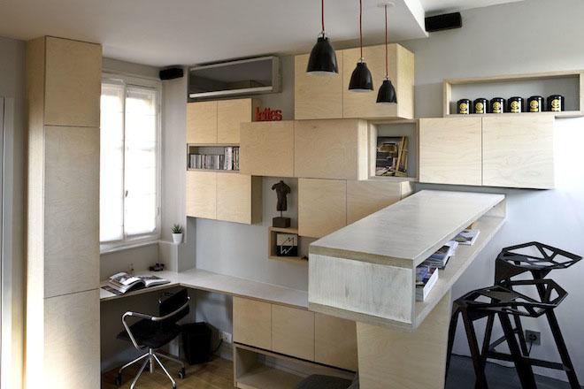 Efficient Studio Apartment Living In Paris