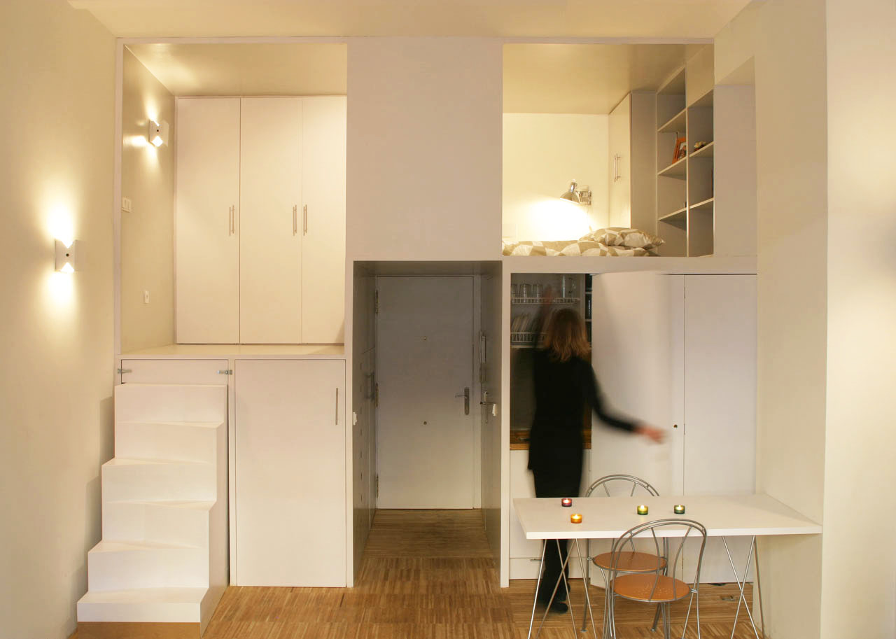 Hidden Kitchen Storage Door