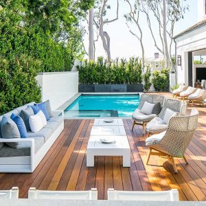 Outdoor Terrace with Swimming Pool and Wooden Deck