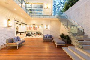 Open Concept Basement Entertaining Spaces