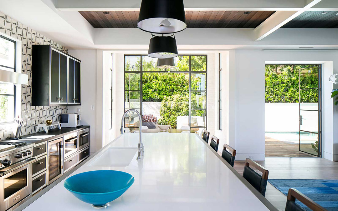 Mid Century Modern Transitional Style Home With Open