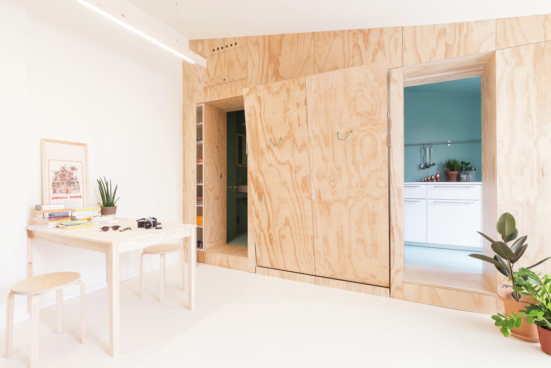 300 Square Foot Tiny Studio Apartment With Flexible Living Space Idesignarch Interior Design Architecture Interior Decorating Emagazine
