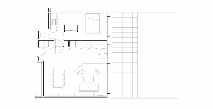 Minimalist40sqftOneBedroomApartmentParis40 Interesting One Bedroom Apartment Plan Minimalist