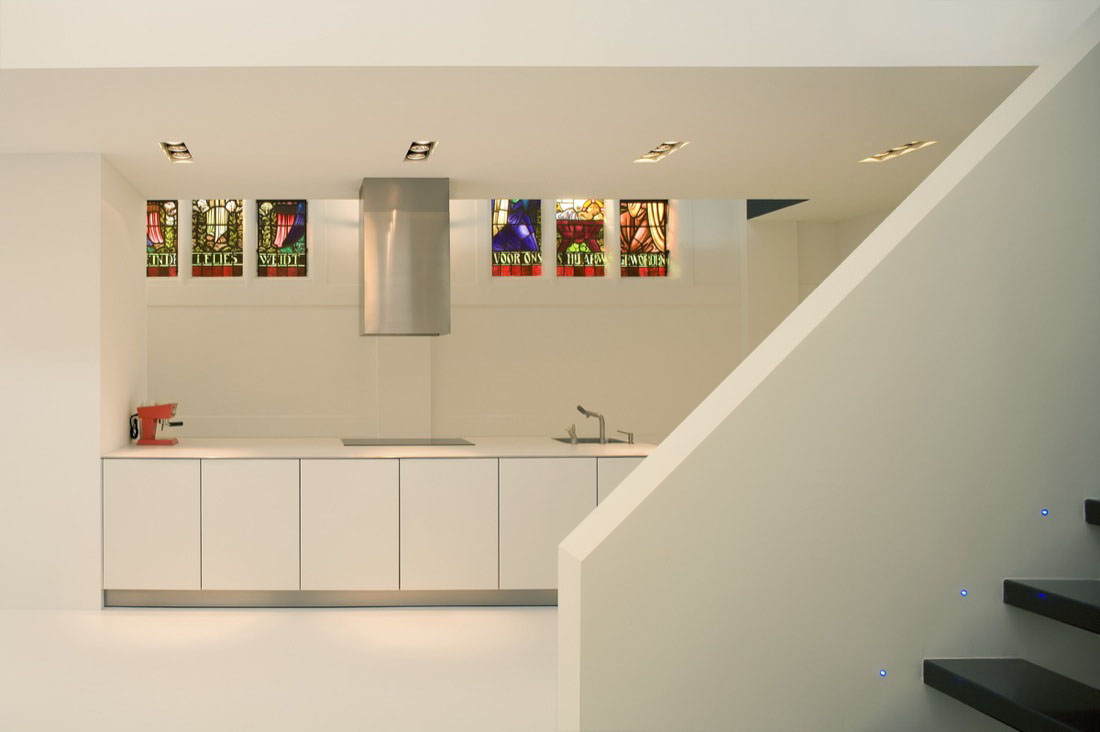 Minimalist Garage Converted Into A Kitchen Ideas: Minimalist Church Conversion Home