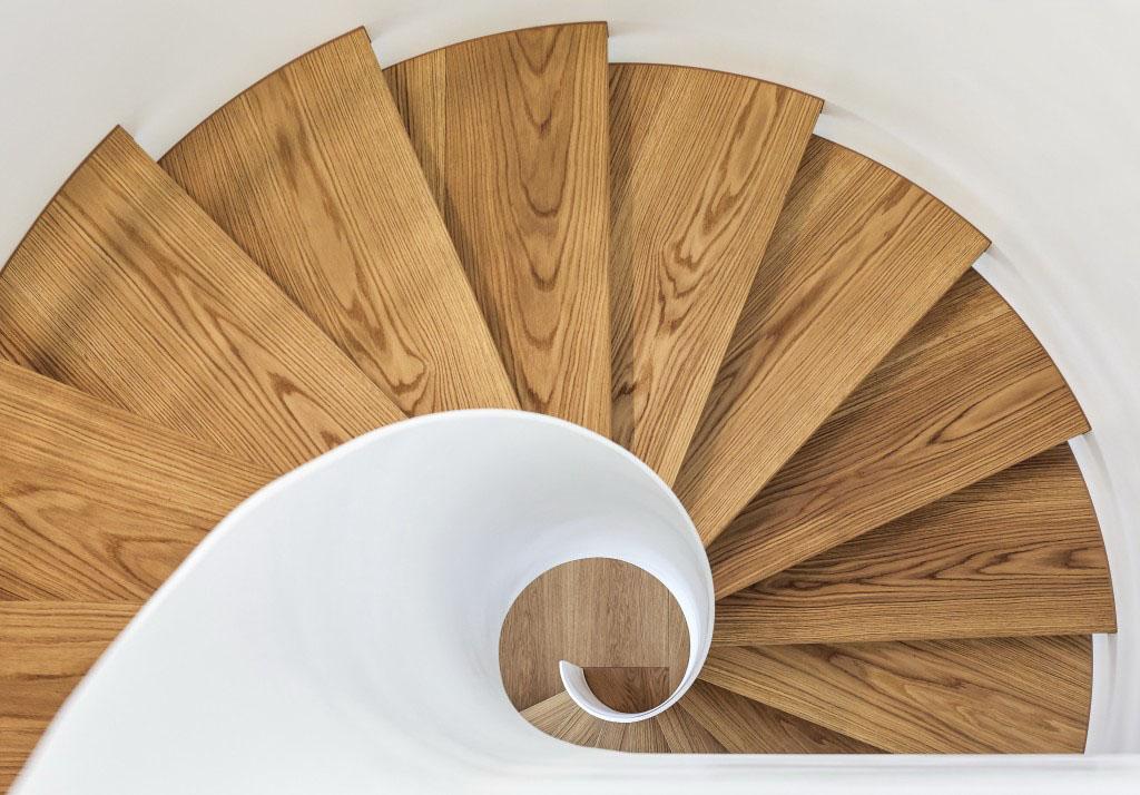 Modern Wood Spiral Staircase
