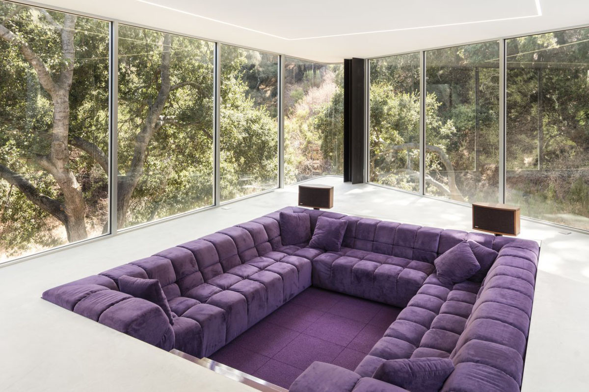 "Purple B&B Italia ""Tufty Time"" Sofa"