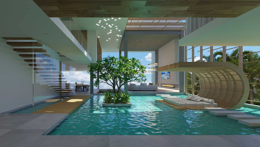 Modern Coastal Dream Home With Indoor Outdoor Pools