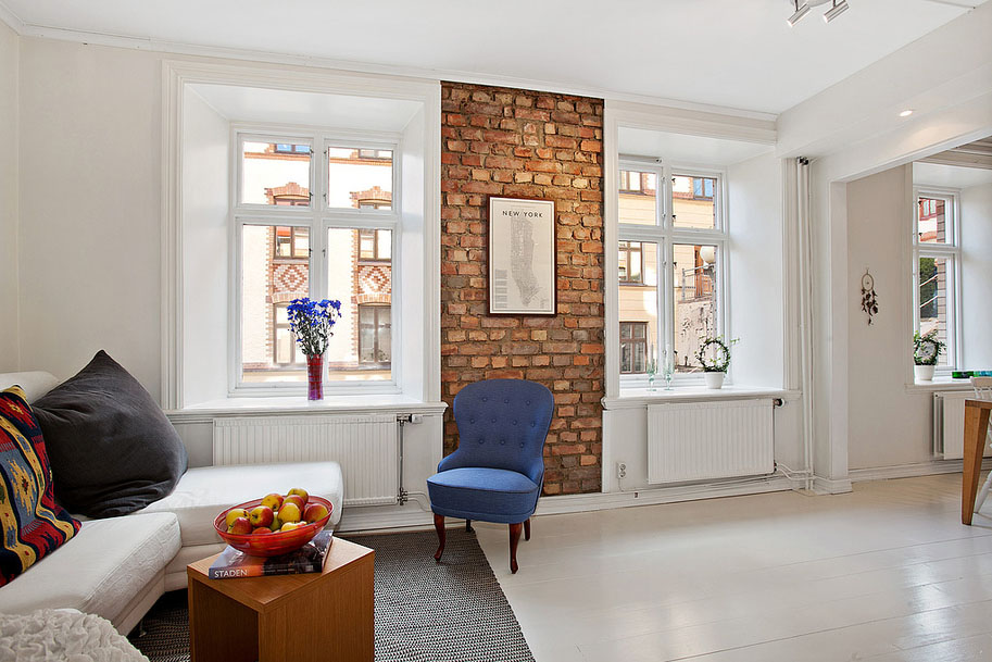 Modern Brick Wall Apartment
