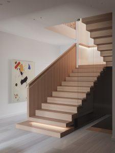 Elegant Modern Wood Staircase