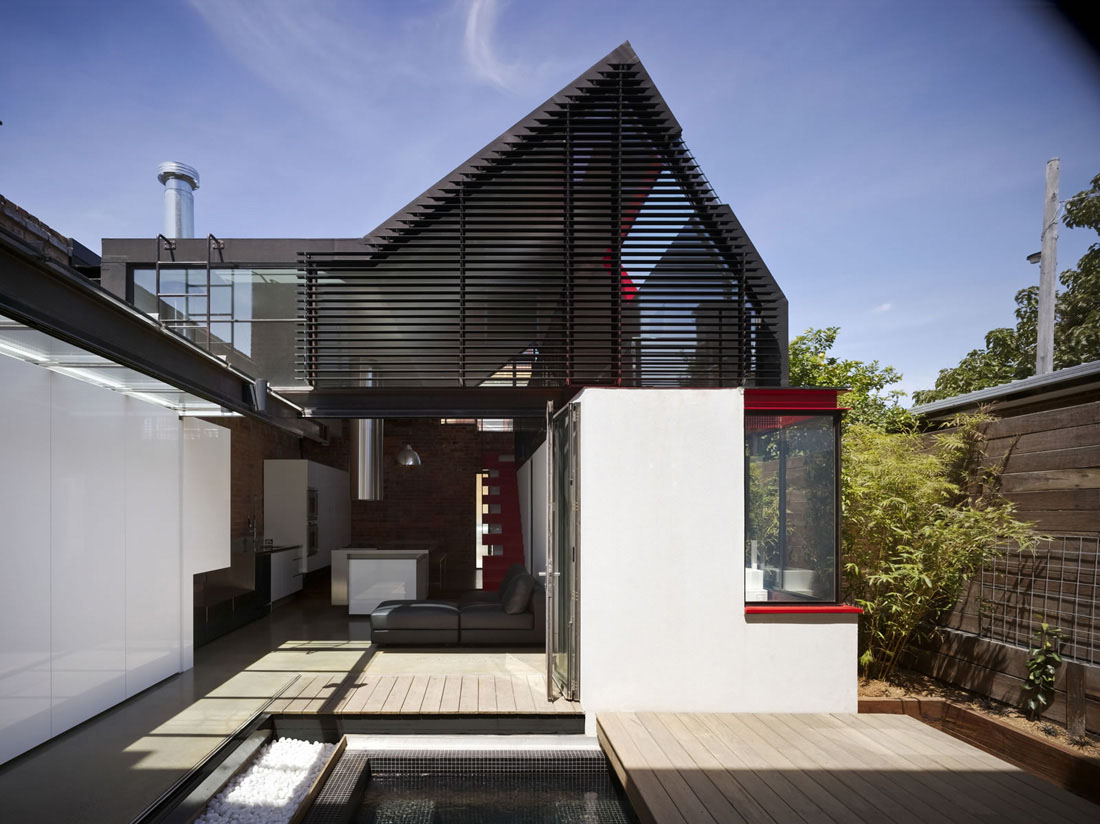 modern architecture victorian extension terrace vader contemporary architects maynard australia melbourne inner architectural designs homes building historic arch courtyard andrew