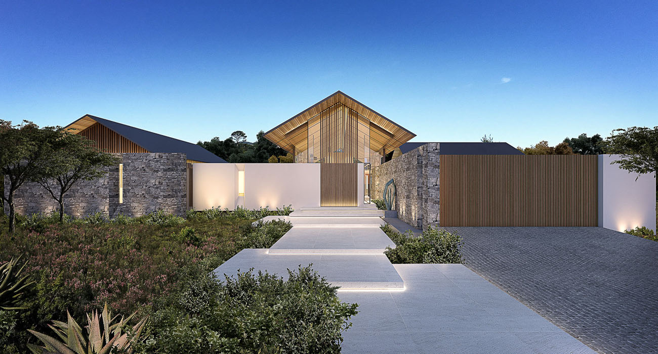 Contemporary Ranch Style House With Strong Timber And Stone Features