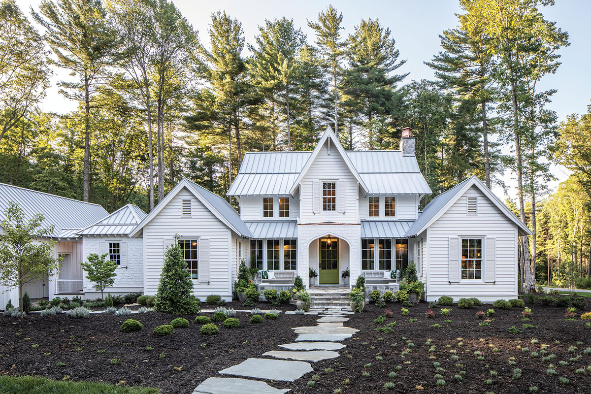 Modern Farmhouse with Classic Style Architecture in the Biltmore Forest