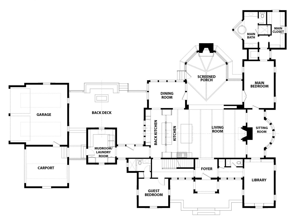 Modern Farmhouse with Classic Style Architecture Floorplan