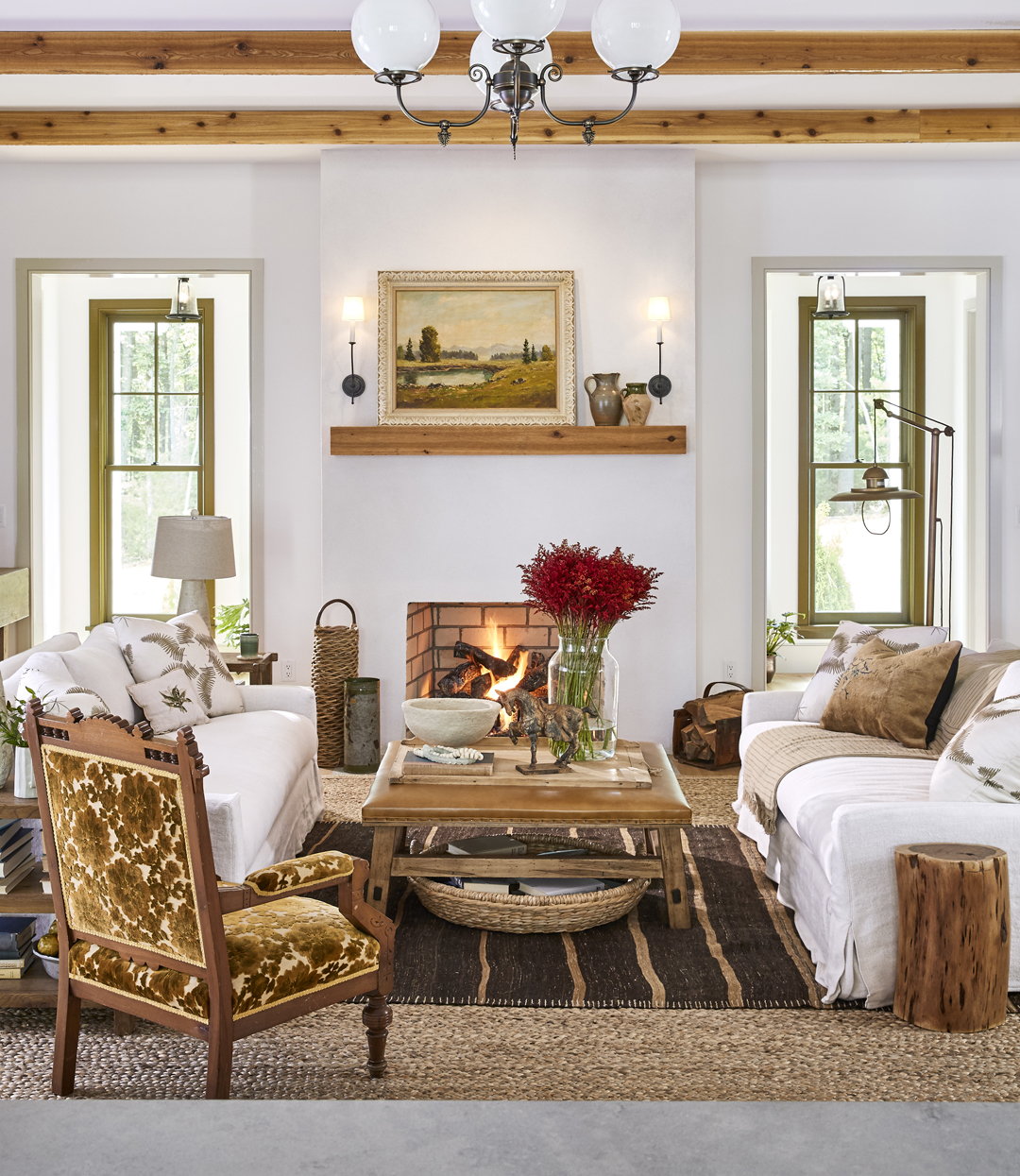 Country Home Living Room