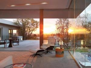 Modern Home Johannesburg at Sunset