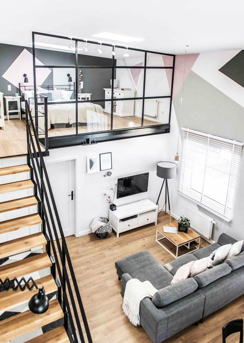 Loft Apartment Features Modern Scandinavian Interior with Industrial Twist & Loft Apartment Features Modern Scandinavian Interior with Industrial ...