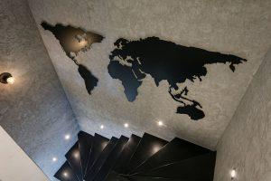 Decorative World Map on Wall