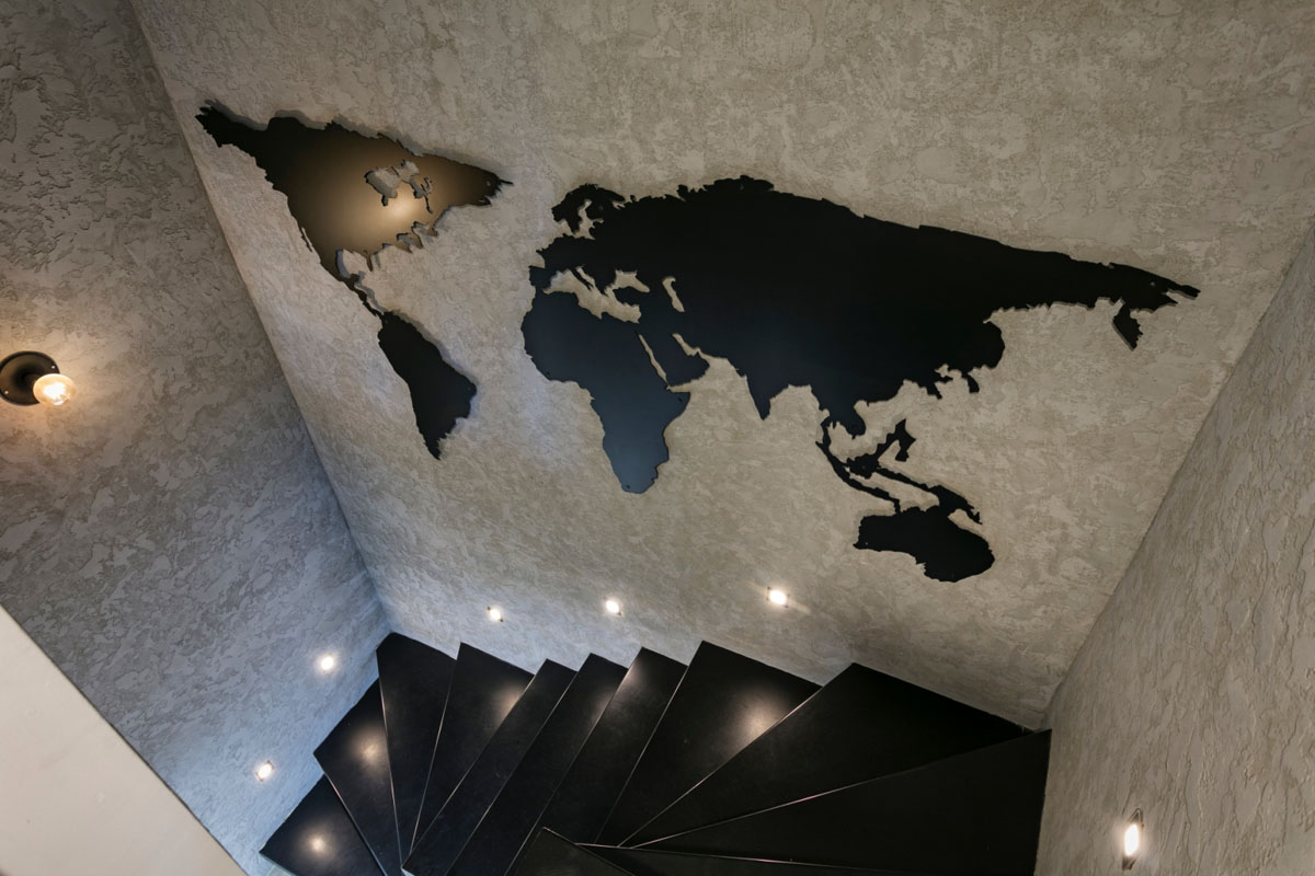 Decorative World Map on Wall