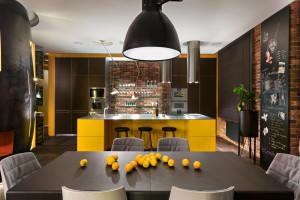 Modern Yellow Kitchen Design