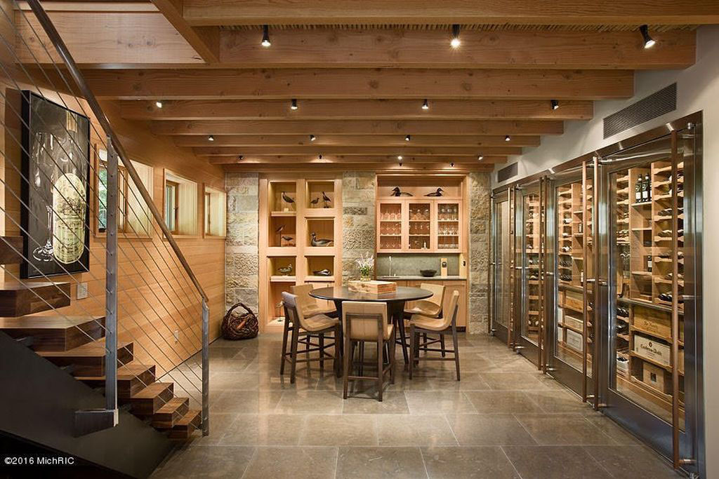 Modern Climate-Controlled Wine Cellar