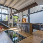 Former Stable Near Paris Converted into a Modern Residential Loft