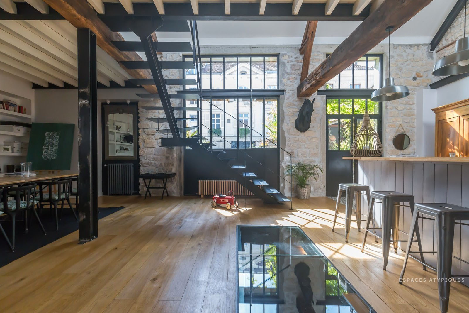 Former Stable Near Paris Converted Into A Modern Residential Loft Idesignarch Interior