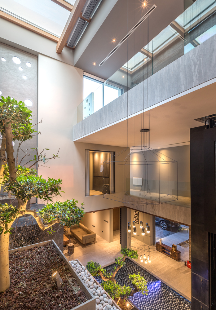 Modern Home with Indoor Courtyard