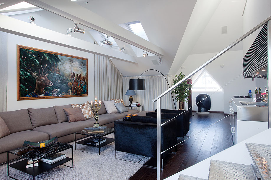 Modern Penthouse With Skylights Idesignarch Interior