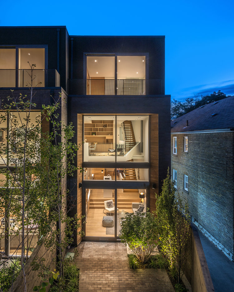 Narrow Semi Detached House Features Modern Atrium Space
