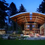 Modern Industrial Suburban House in Seattle with Curved Roof