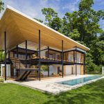 Ocean View Jungle House in Costa Rica with Interwoven Terraces