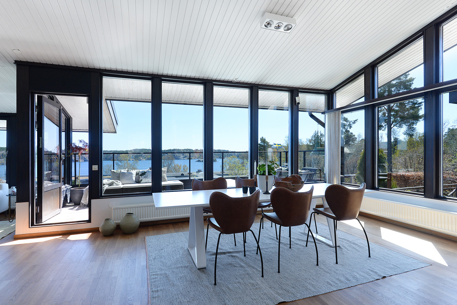 Modern Home In Sweden With Views Of The Water And