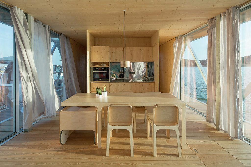 Floating Mobile Home Kitchen