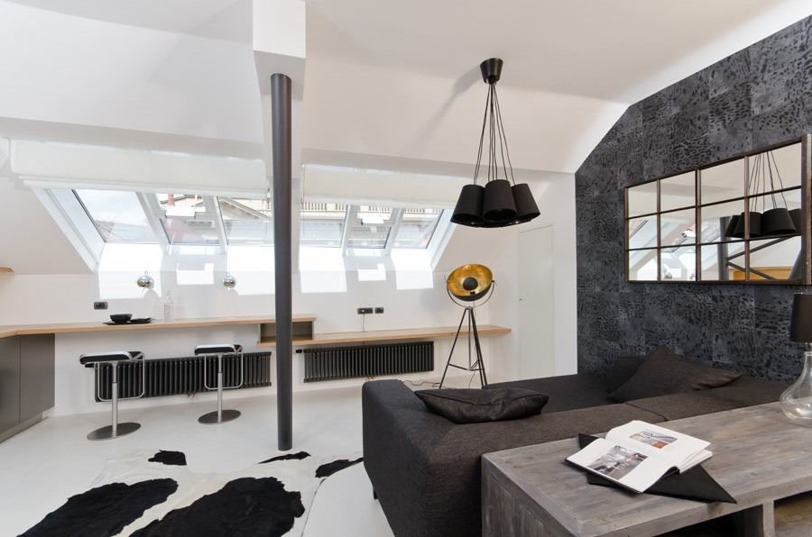 Cool Small Attic Loft Apartment With Minimalist Design IDesignArch Mesmerizing Loft Bedroom Design Ideas Minimalist