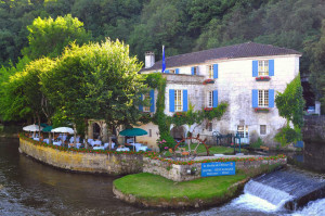 Charming French Village Terrace Restaurant by the River
