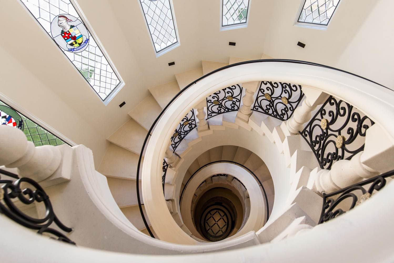 Contemporary Stone Spiral Staircase