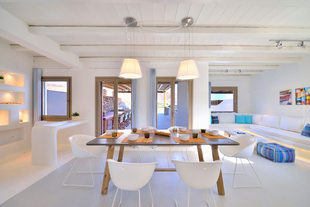 Greek Mediterranean Style Villa In Mykonos With Modern Charm on modern office furniture design