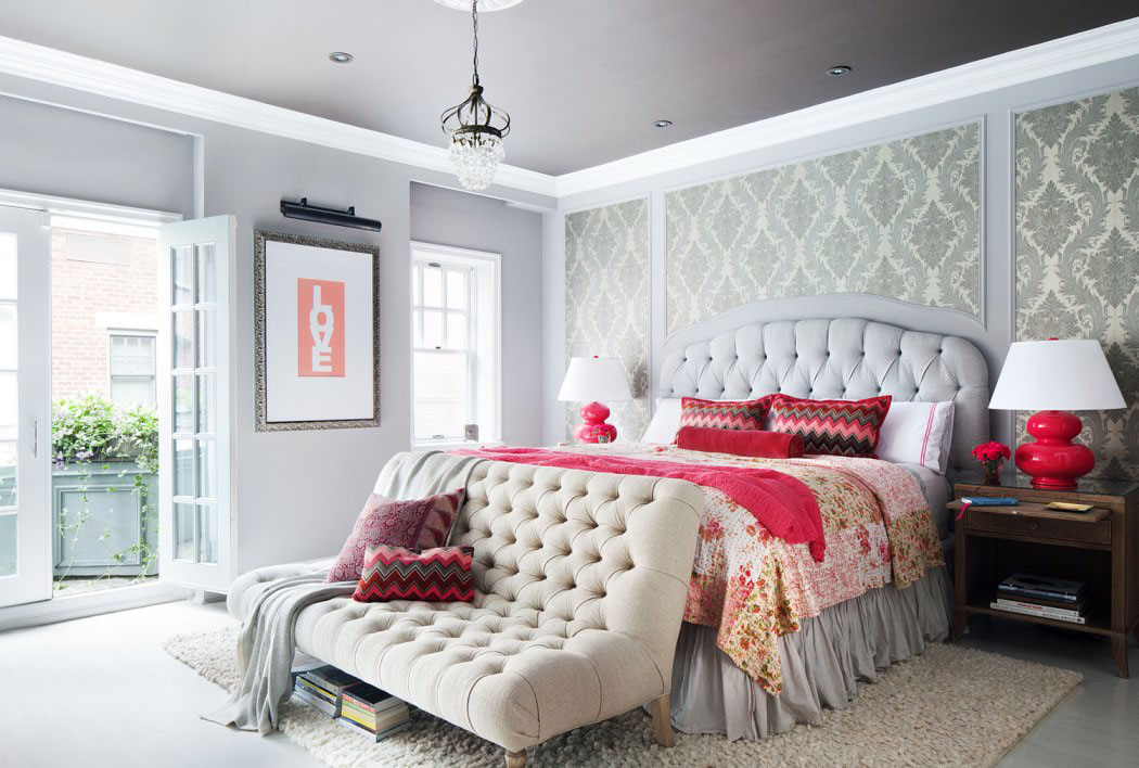 Gray and Pink Bedroom Decor