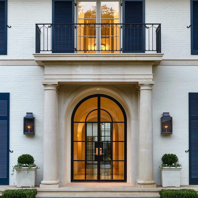 Classic Arch Doorway with Architectural Columns