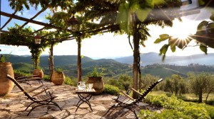 Terrace with Views of Umbrian Hills