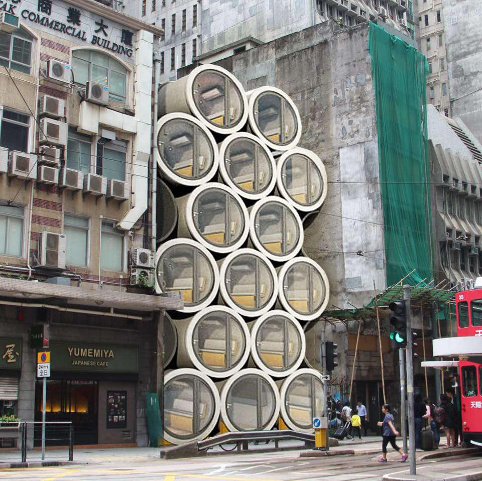 Opod Concrete Pipe Modern Tiny Apartment Hong Kong 9
