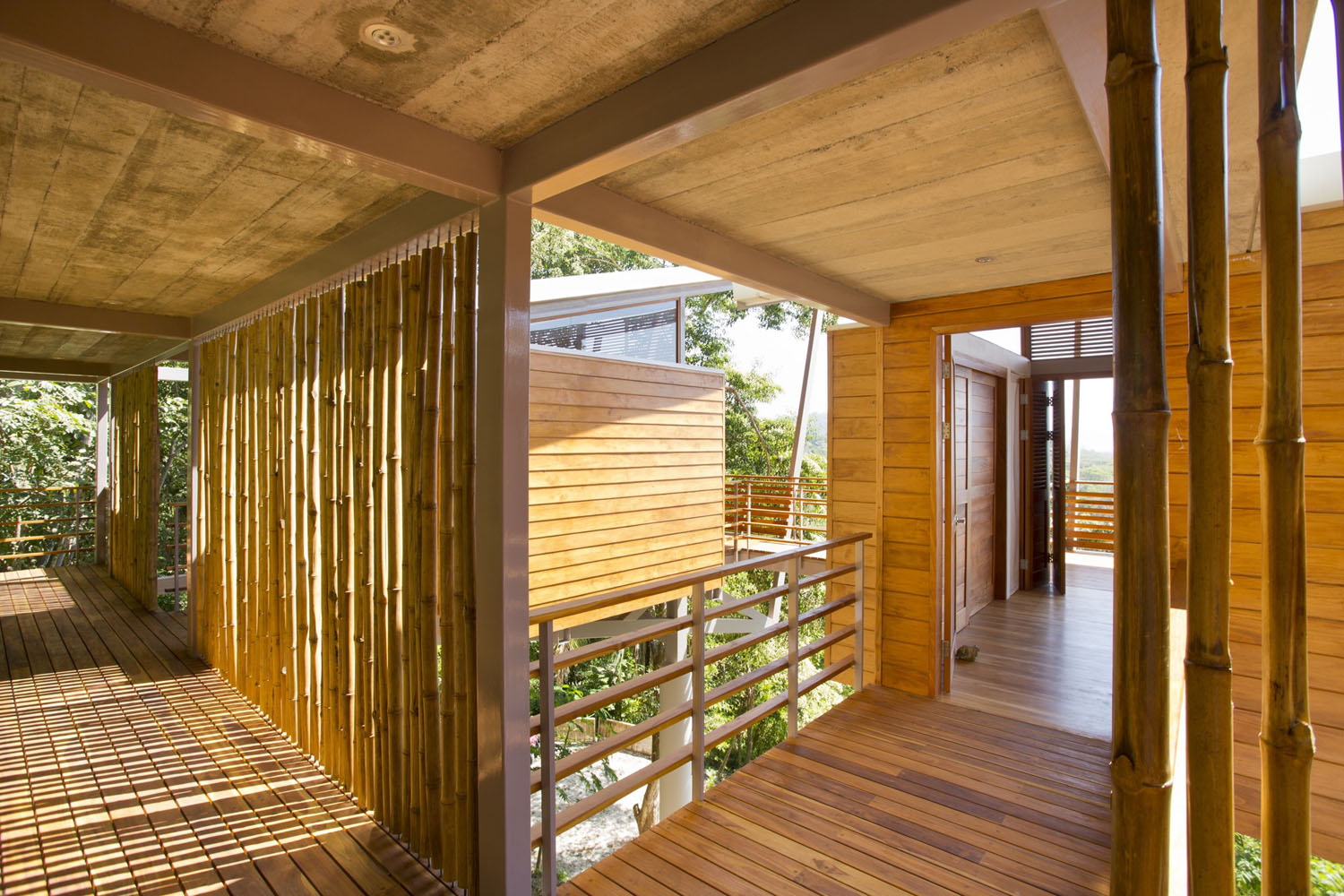 House built with Wood and Bamboo materials