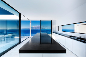 Modern Kitchen with Ocean View
