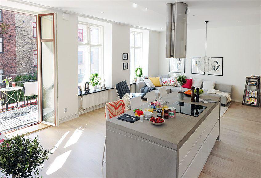 Open Plan Apartment Design In Gothenburg Open