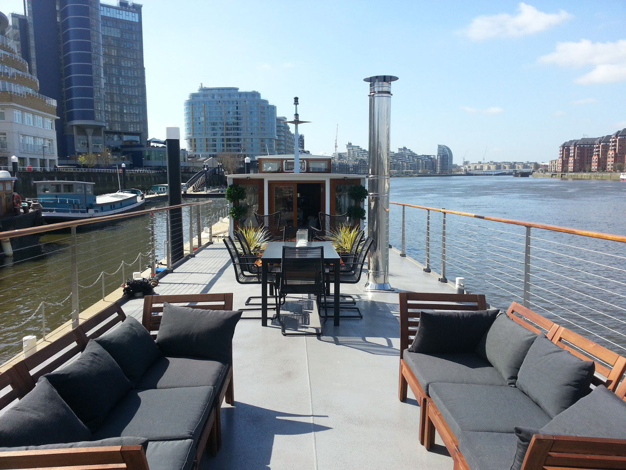Houseboat by River Thames