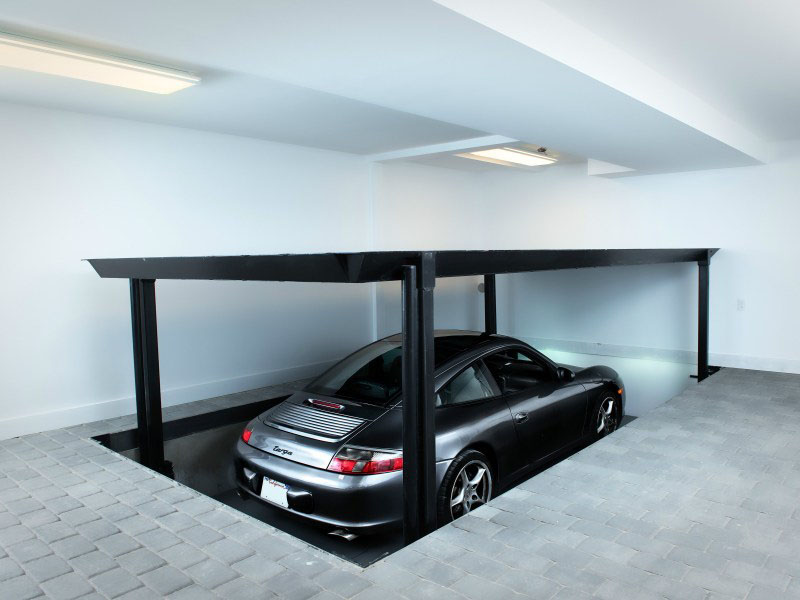 House with Car Elevator